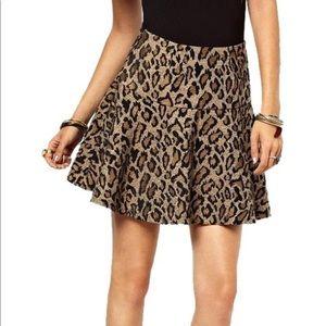 Free People Leopard Skirt